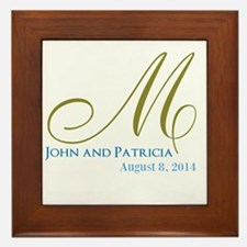 Wedding Memento / Monogram Framed Tile