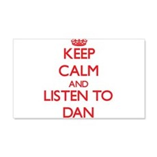 Keep Calm and Listen to Dan Wall Decal