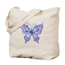 Pretty Blue Butterfly Tote Bag