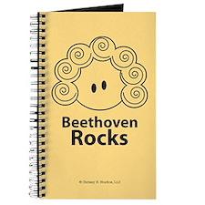Beethoven Rocks Yellow Journal