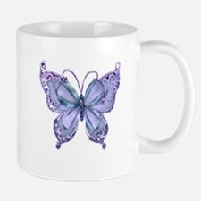 Pretty Blue Butterfly Mugs