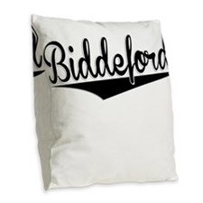 Biddeford, Retro, Burlap Throw Pillow