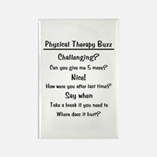 Physical Therapy Buzz Rectangle Magnet