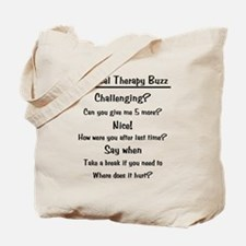 Physical Therapy Buzz Tote Bag