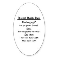 Physical Therapy Buzz Oval Decal