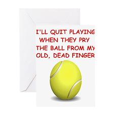 Tennis2 Greeting Cards