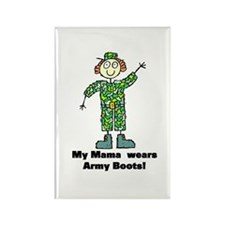 My Mama Wears Army Boots Rectangle Magnet