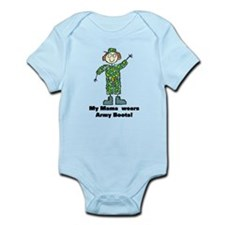 My Mama Wears Army Boots Infant Bodysuit