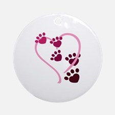 Dog Paws Ornament (Round)