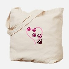Dog Paws Tote Bag