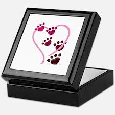 Dog Paws Keepsake Box
