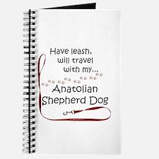 Anatolian Shepherd Travel Leash Journal