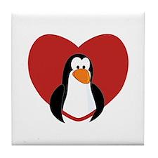 Penguin Valentine Tile Coaster