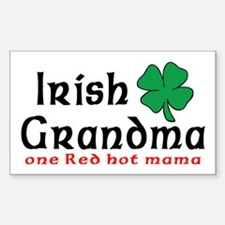 Irish Grandma Rectangle Decal