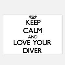 Keep Calm and Love your Diver Postcards (Package o