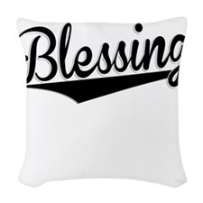 Blessing, Retro, Woven Throw Pillow