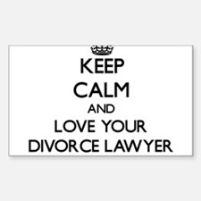 Keep Calm and Love your Divorce Lawyer Decal