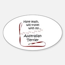 Australian Terrier Travel Leash Oval Decal