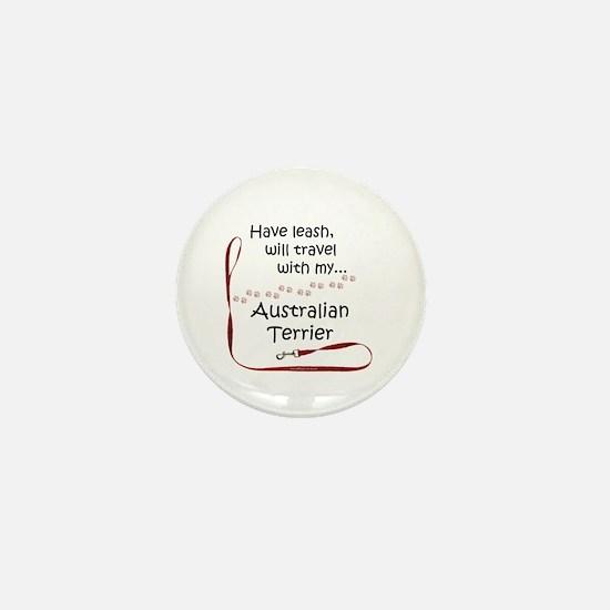 Australian Terrier Travel Leash Mini Button