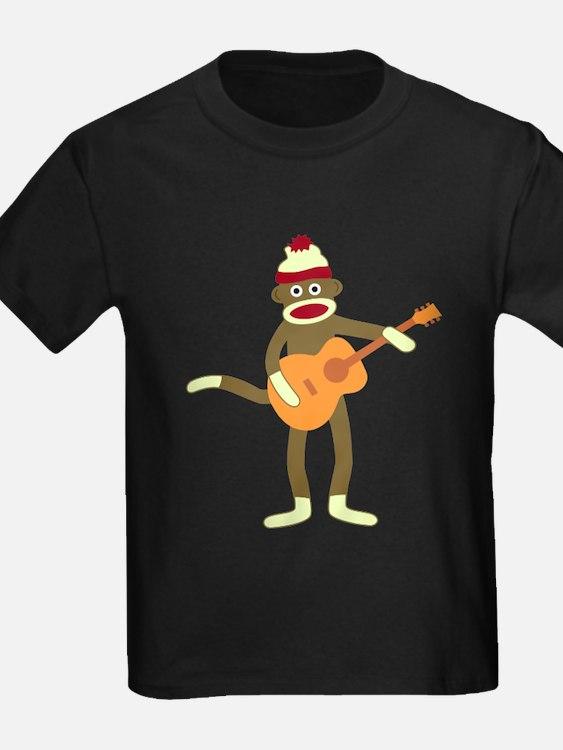 Sock Monkey Acoustic Guitar T