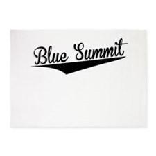 Blue Summit, Retro, 5'x7'Area Rug
