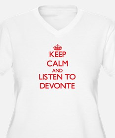 Keep Calm and Listen to Devonte Plus Size T-Shirt