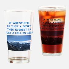 WRESTLING5 Drinking Glass
