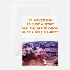 WRESTLING3 Greeting Cards
