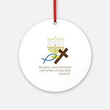 Micah 6:8 Round Ornament