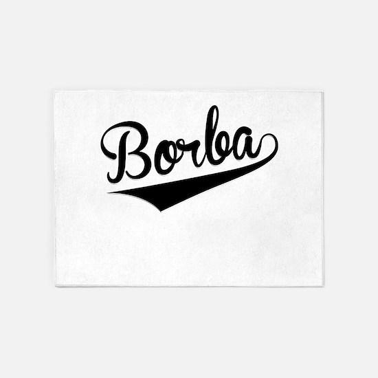 Borba, Retro, 5'x7'Area Rug