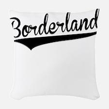 Borderland, Retro, Woven Throw Pillow