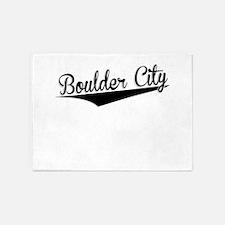 Boulder City, Retro, 5'x7'Area Rug