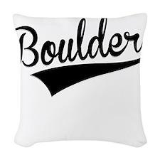 Boulder, Retro, Woven Throw Pillow