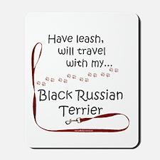 Black Russian Travel Leash Mousepad
