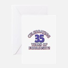 35 year old designs Greeting Card