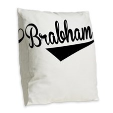 Brabham, Retro, Burlap Throw Pillow
