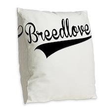 Breedlove, Retro, Burlap Throw Pillow