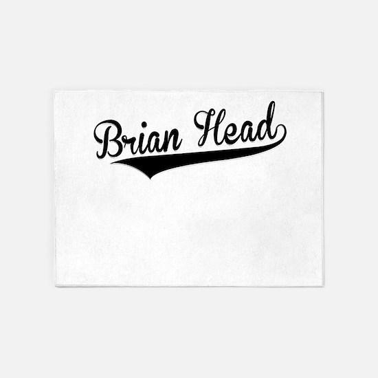 Brian Head, Retro, 5'x7'Area Rug