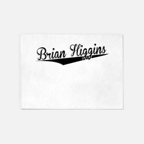 Brian Higgins, Retro, 5'x7'Area Rug
