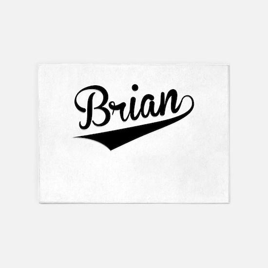 Brian, Retro, 5'x7'Area Rug