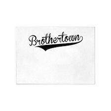 Brothertown, Retro, 5'x7'Area Rug