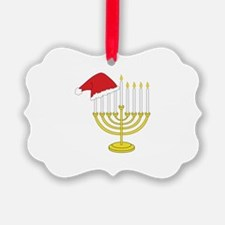 Hanukkah And Christmas Ornament