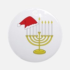 Hanukkah And Christmas Ornament (Round)