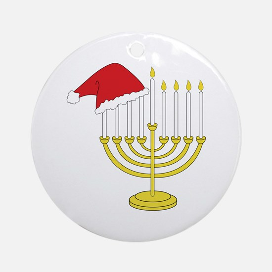 Hanukkah And Christmas Ornament (Round)