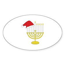 Hanukkah And Christmas Decal