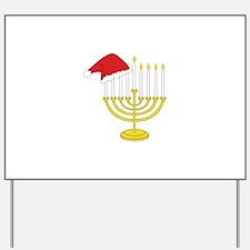 Hanukkah And Christmas Yard Sign