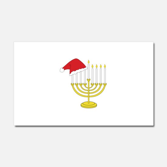 Hanukkah And Christmas Car Magnet 20 x 12
