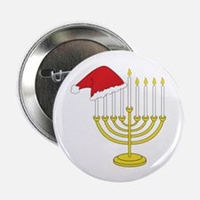 "Hanukkah And Christmas 2.25"" Button (100 pack)"