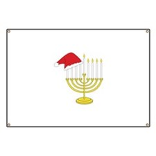 Hanukkah And Christmas Banner