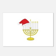 Hanukkah And Christmas Postcards (Package of 8)